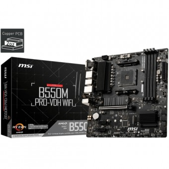 MSI B550M PRO-VDH WIFI DDR4 S+V+GL AM4 (mATX)