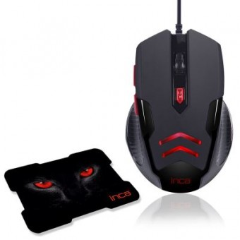 IMG-359 3200 DPİ 6D USB GAMİNG MOUSE+ MOUSEPAD
